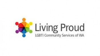 Living Proud LGBTI Community Services of WA's logo