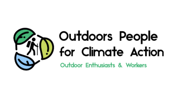 Outdoors People for Climate Action's logo